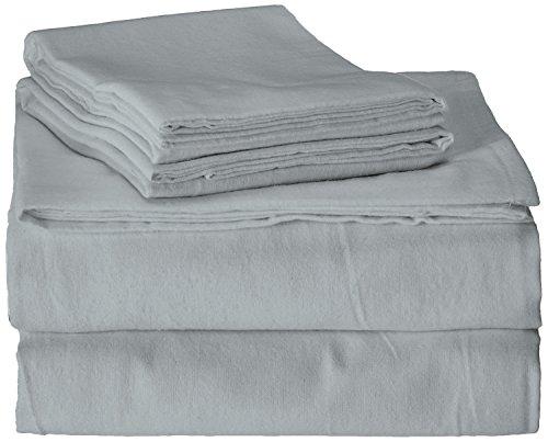 Brielle 100-Percent Cotton Flannel 4 Piece Sheet Set, Twin / Twin XL, Light Blue