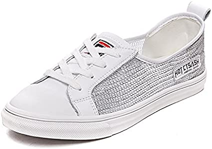 NGRDX/&G Chaussures Blanches Femmes Chaussures De Sport Occasionnels Chaussures Femmes Respirant Chaussures Simples Femmes