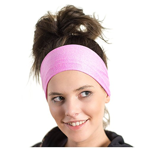 Red Dust Active Lightweight Sports Headband - Moisture Wicking Pink Sweatband - Ideal for Running, Cycling, Hot Yoga and Athletic Workouts - Designed for Women Borrowed by Men by Red Dust Active (Image #9)