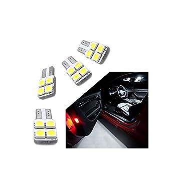 Zesfor Kit de Bombillas LED para Puertas w5w / t10: Amazon.es: Coche y moto