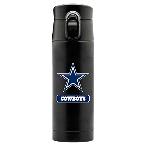 - NFL Dallas Cowboys 16oz Double Wall Stainless Steel Thermos, Matte Black