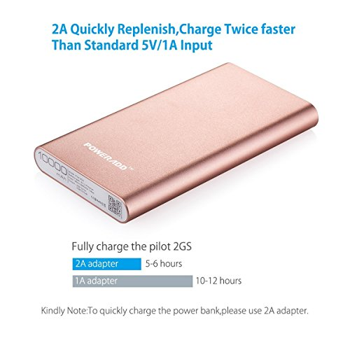 constrained EditionPoweradd 2nd Gen 34A Pilot 2GS 10000mAh lightweight Charger External Battery vitality Bank having rapidly Charging for Smartphones and Tablets improved Gold trave Chargers
