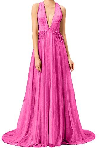Quinceanera Ausschnitt Fest Ivydressing V Pink Beliebt Brautbegleiterinkleider Promkleider Linie Bodenlang Party Abendkleid Damen A Hochzeit wPZwS