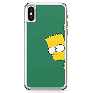 Loud Universe The Simpsons iPhone X Case Hiding Bart simpson iPhone X Cover with Transparent Edges