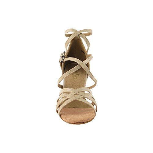 Evening Heel Latin Dress SERA1700 Party Pump Women Comfort Tango Ballroom Swing Wedding Pigeon High Leather Tango Dance Tan Party Shoes Latin Shoes Medium Gold Shoes Salsa Swing Salsa Iw4YTqI0