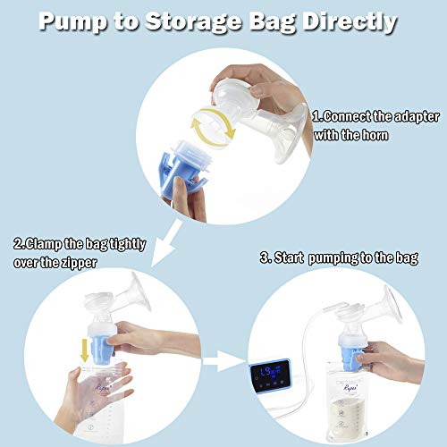 Milk Storage Bag Adapters for Bellababy Electric Breast Pump and Bellababy Manual Pump