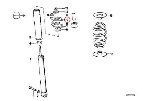 2 X BMW Genuine Shock Mount Washer Gasket Shock Mount to Body Rear E30 E36 E46 318i 318is 325e 325i 325ix M3 318i 318is 318ti 320i 323i 325i 325is 328i M3 M3 3.2 320i 323Ci 323i 325Ci 325i 325xi 328Ci 328i 330Ci 330i 330xi M3 Z4 2.5i Z4 3.0i Z4 3.0si Z4