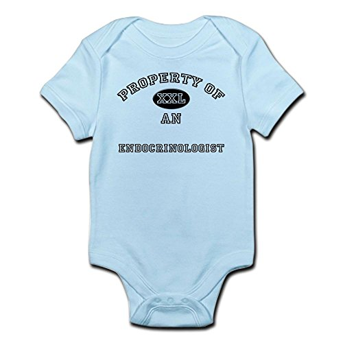 CafePress - Property Of An Endocrinologist - Cute Infant Bodysuit Baby Romper