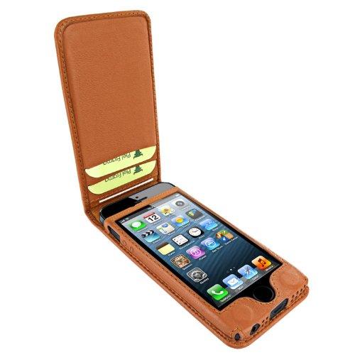 Piel Frama Ledertasche Classic Magnetic RACE Edition Braun/Schwarz für Apple iPhone 5 / 5S