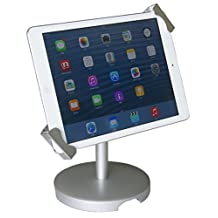 """Angel POS ® Universal Tablet Desktop Anti-Theft POS Stand Holder Enclosure with Lock & Key for Retail Kiosk, Compatible with iPad, iPad Air, iPad mini, Samsung Galaxy, Acer Lenovo 7-10"""" Tablet"""