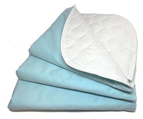 RMS Ultra Soft 4-Layer Washable and Reusable Incontinence Bed Underpads, 18
