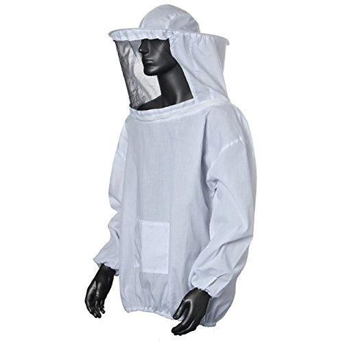 [New Cotton Beekeeping Jacket Bee Veil Suit Large Smock Keeping Hat Hood Protective White Equipment Pull Over] (Costume Design Online Classes)