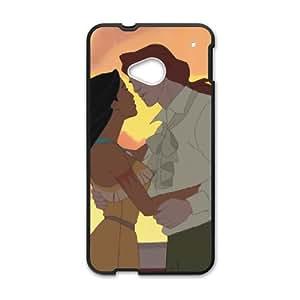 HTC One M7 Cell Phone Case Black Disney Pocahontas Character Captain John Smith