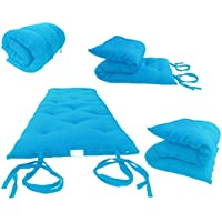 Brand New Turquoise Traditional Japanese Floor Futon Mattresses, Foldable Cushion Mats, Yoga, Meditaion.