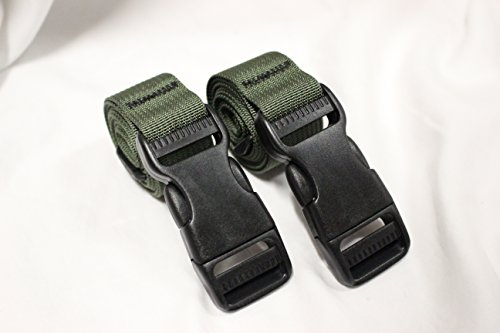 Pack Nylon Olive Drab - Molle Backpack Accessory Straps - Quick Release Buckle (Olive Drab (Military Spec Nylon))