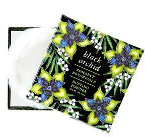 Greenwich Bay Black Orchid Dusting Powder with Puff, Romance Botanicals 4 oz