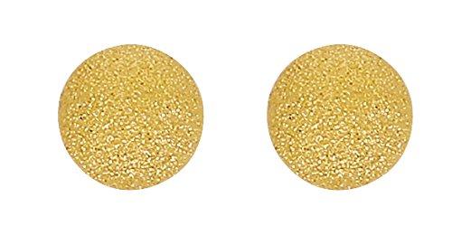 Boucles d'Oreilles Boules Satinées 8 mm Or 18 Carats