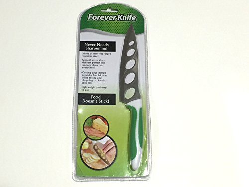 Forever Knife - Razor Sharp, Non-Stick, Laser Cut Forged Stainless Steel Knife - Great For Cheese, Potato and Tomatos - Never Needs Sharpening!
