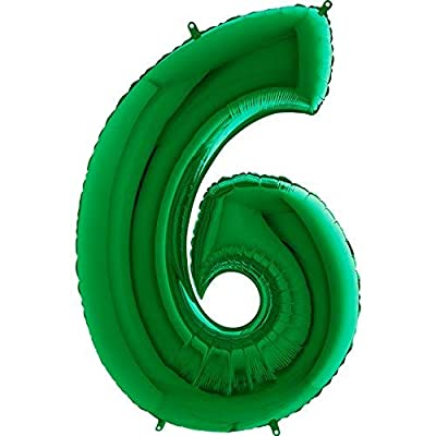 Giant Green Number '6' Balloon Decoration - Party Supplies: Toys & Games