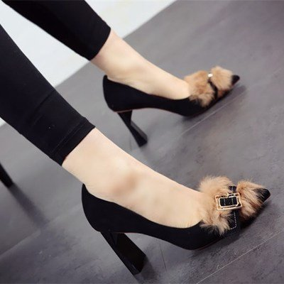 tacco lavoro FLYRCX e e camoscio ladies' alta singola scarpe Primavera testa autunno scarpe confortevoli calzatura con da a euclidea 74nxqfBT7w