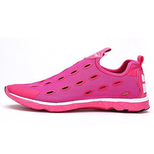 ALEADER Frauen Mesh Slip On Water Schuhe 9989 Rot