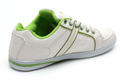 Norn B8975 Herren Schnürhalbschuhe, Sneakers, Sport schuhe, Sport Sneakers, Skateboardschuhe (EU 41-46) Weiß