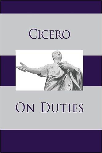 On Duties Cicero 9781627300308 Amazon Com Books