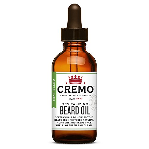 Cremo Beard Oil, Mint Blend, 1 Ounce- Restores Moisture, Softens and Reduces Beard Itch for All Lengths of Facial Hair (Best Natural Beard Oil)