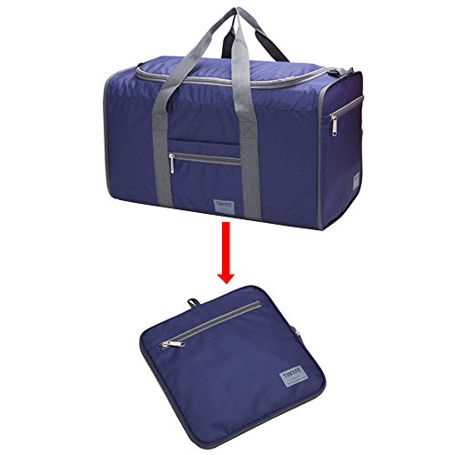 43d4baad9787 Foldable Duffel Bag Lightweight Weekender Overnight Carry on Luggage Travel  Gym Bags