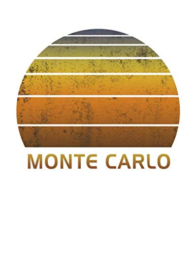 Monte Carlo: Notebook With Lined College Ruled Paper For Taking Notes. Stylish Vintage Travel Journal Diary 8.5 x 11 Inch Soft Cover.