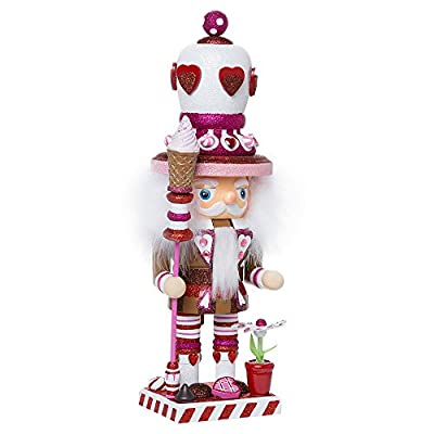 Kurt Adler 16-Inch Hollywood Chubby Heart King Nutcracker