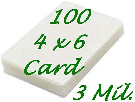 Card Size Hot Laminating Laminator Pouches 100 pk 3 Mil 2-3//4 x 4-1//2 Sleeve