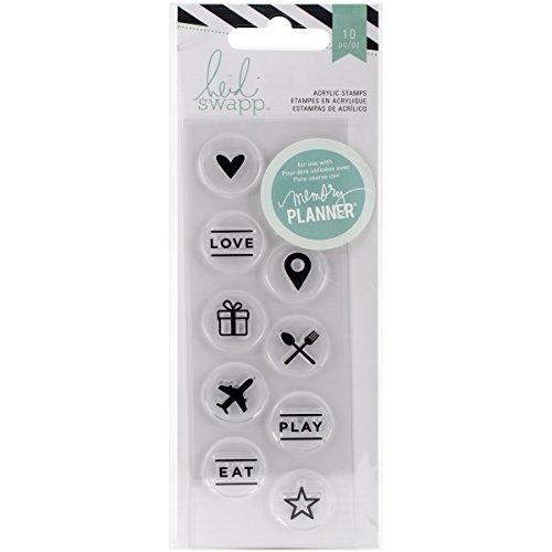 Brand New Heidi Swapp Hello Beautiful Acrylic Stamps-Circle Icons Brand New