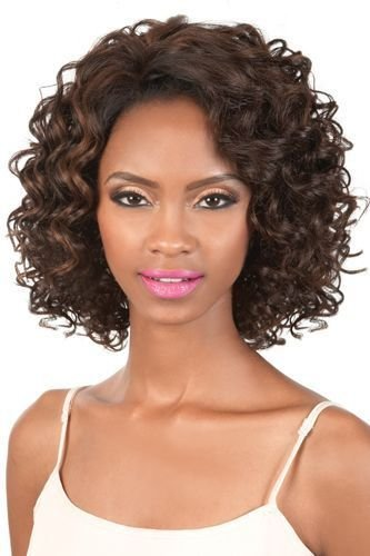 (L. DANA - ORADELL Motown Tress LET'S LACE Synthetic Futura Full Wig #1 Jet Black)