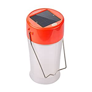 Etekcity Portable Rechargeable Outdoor USB and Solar LED Camping Lantern (Orange)