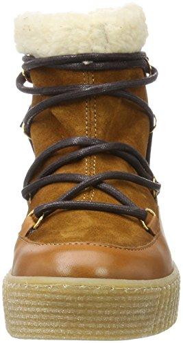 Pieces Mujer Marrón Nieve Boot Cognac Cognac Pspaccia Botas Leather de para Tr6T8q