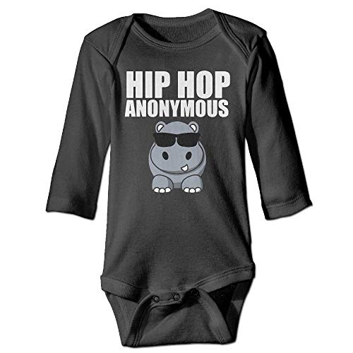 MMJQ6 Hip Hop Funny Hippo Infant Baby Boys Girls Crawling Suit Long-Sleeve Onesie Romper Jumpsuit by MMJQ6