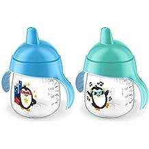 Philips Avent My Penguin Sippy Cup 9oz, Blue, 2pk, SCF753/25