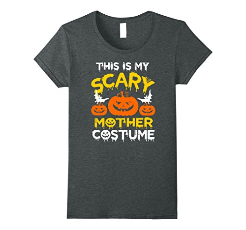 Unique Son Halloween Mother Costumes (Womens This is My Scary Mother Costume Halloween T-shirt XL Dark)