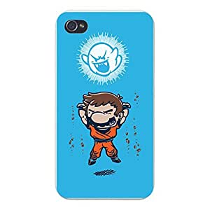 "Wishing Apple iPhone Custom Case 5 / 5S White Plastic Snap On - ""Spirit Bomb"" Cartoon & Video Game Parody"
