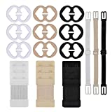 W-Plus Bra Strap Clips Bra Extenders Bra Strap Holders - Racer Back - Conceal Straps - Cleavage Control