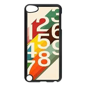 iPod Touch 5 Case Black Retro Numbers Rwlvj