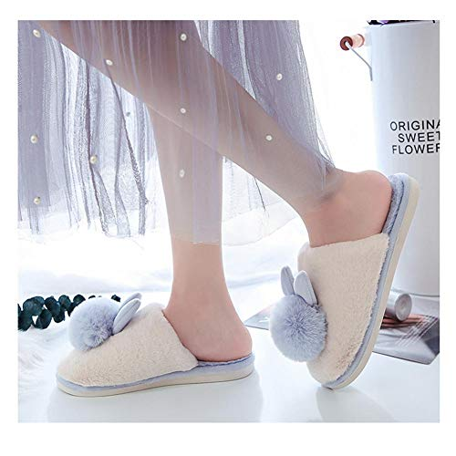 Automne Chaussures Peluche En Pantoufles Rose De Maison Couple Lapin Animé Un Coton Domestique Hiver Usage Imitation Dessin Convient Pour P1rwqPt