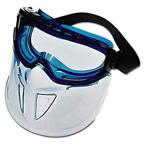 Jackson Safety V90 Shield Clear Anti Fog Lens Protection Goggle with Blue Frame by Jackson Safety