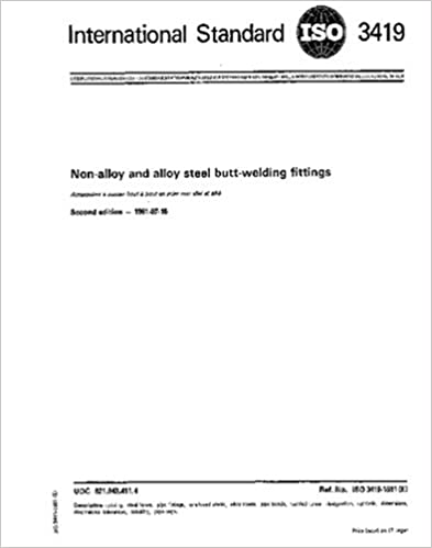 Book ISO 3419:1981, Non-alloy and alloy steel butt-welding fittings