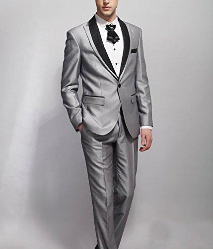 Suit Me 2 pezzi giacca vestito del partito di abiti da sposa smoking da uomo, pantaloni smoking