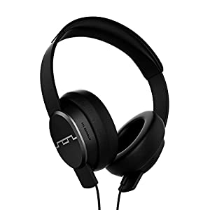 "SOL REPUBLIC Master Tracks X3 Over-Ear Headphones – Noise Isolation, Club Like Sound,  Mic + Music & Siri Control, 1/4"" Adapter, Virtually Indestructible, SOL-HP1601BK Black"