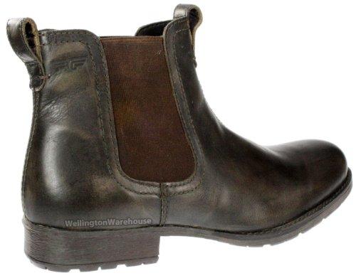 Red Tape Hombre negro o marrón Cuero Auténtico Rojo Lake botas distribuidor chelsea RU 7-12 marrón