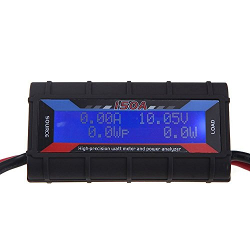RGBZONE 150 Amps Power Analyzer, High Precision RC with Digital LCD Screen for RC, Battery, Solar, Wind Power by RGBZONE