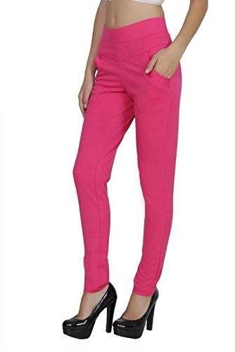 e88069f275a45 Kiba Retail Women New Stylish Party Wear Plain Jegging Combo With Cross  Zipper Casual Wear Jegging (Color-Brown/Pink): Amazon.in: Clothing &  Accessories
